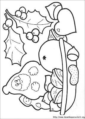 natal 95 Para colorir Natal para crianças
