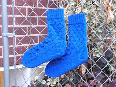 blue socks on blockers