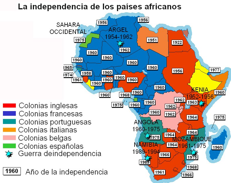 Africa Negra Mapa