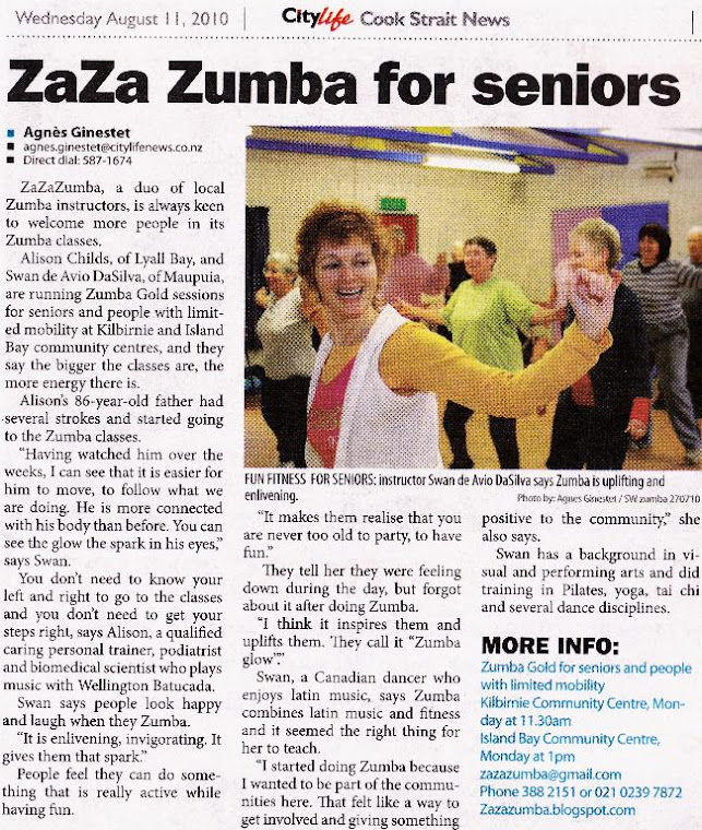 ZaZaZumba in the News!