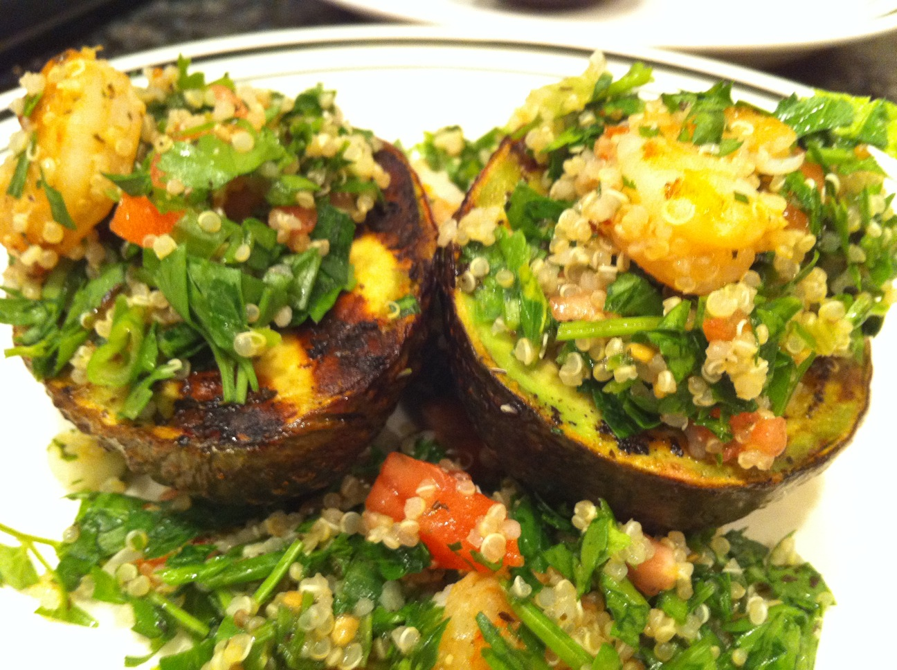 The Foodgitive: Quinoa Tabouli Salad in Grilled Avocado