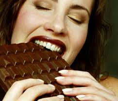A balanced diet is chocolate in both hands!