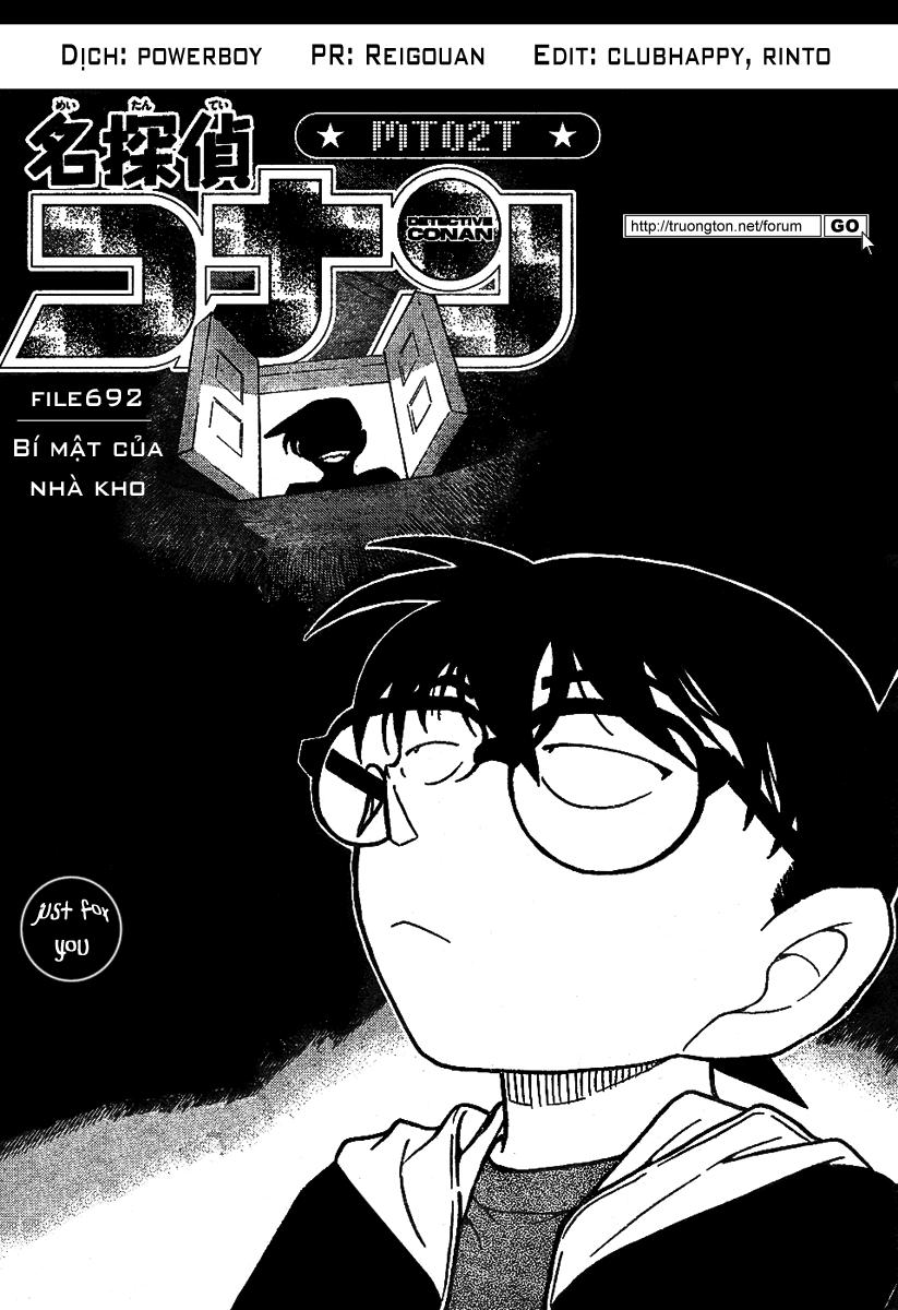Detective Conan - Thám Tử Lừng Danh Conan chap 692 page 1 - IZTruyenTranh.com