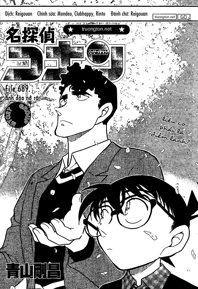 Detective Conan - Thám Tử Lừng Danh Conan chap 689 page 1 - IZTruyenTranh.com