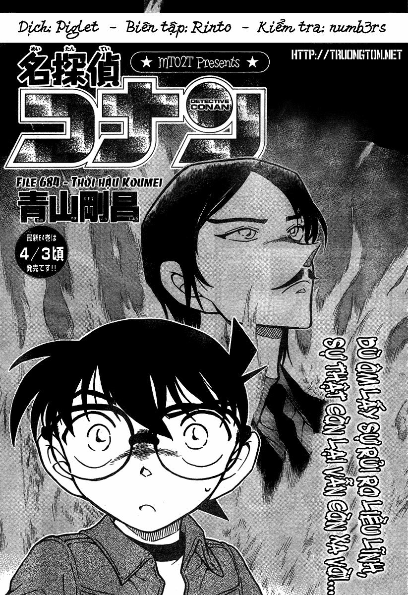 Detective Conan - Thám Tử Lừng Danh Conan chap 684 page 1 - IZTruyenTranh.com