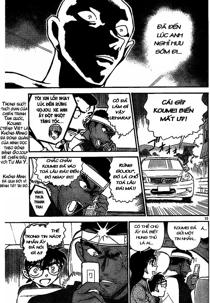 Detective Conan - Thám Tử Lừng Danh Conan chap 684 page 15 - IZTruyenTranh.com