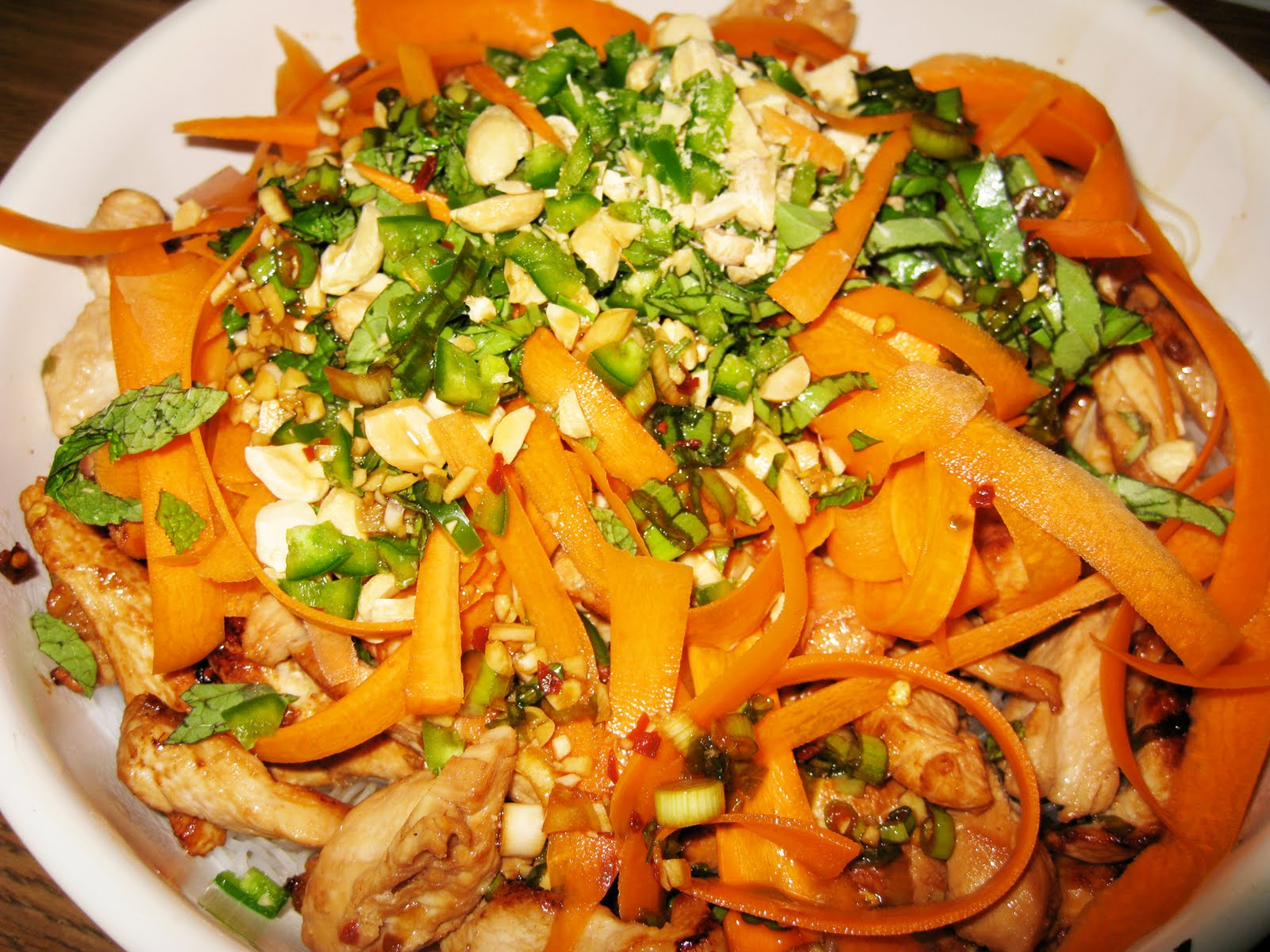 Straight No chaser: Thai Chicken and Noodle Salad