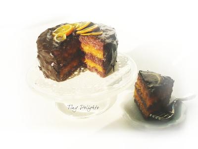 Bolo laranja humido cobertura chocolate