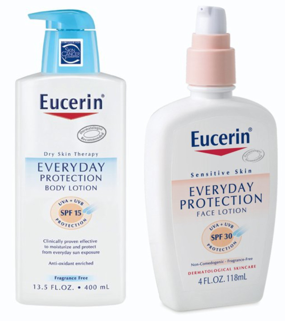 eccentric eclectic woman eucerin everyday protection lotion review. Black Bedroom Furniture Sets. Home Design Ideas
