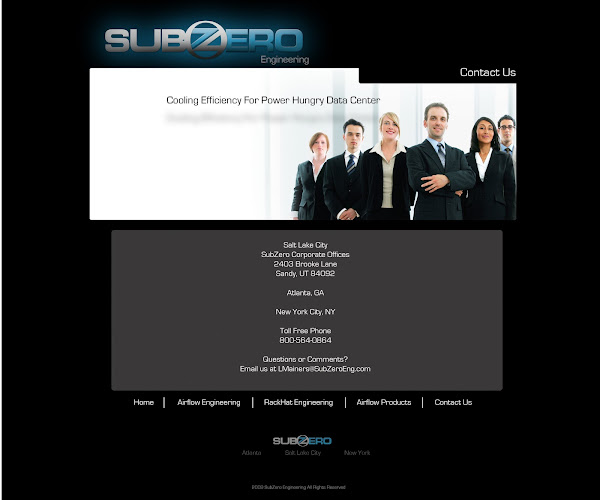 SubZero Website Concept