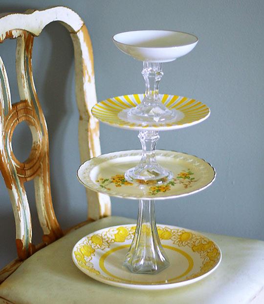 mariages r tro cr ez vos pr sentoirs g teaux vintages. Black Bedroom Furniture Sets. Home Design Ideas