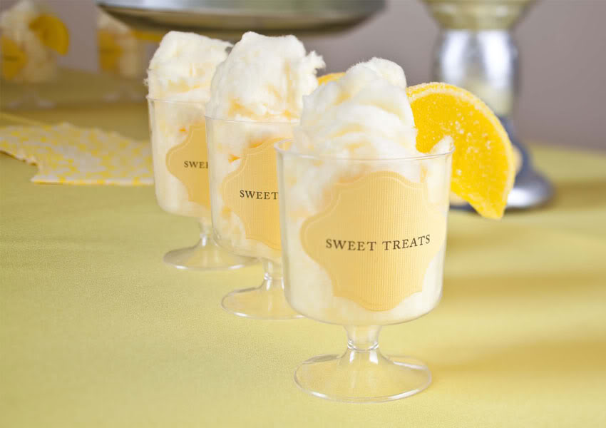 Yellow and Grey Wedding Decor