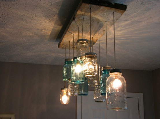 Oh so darling unique diy lighting fixtures for Diy kitchen light fixtures