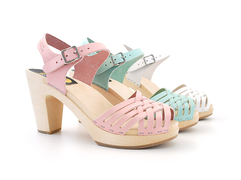 Swedish Hasbeens candy coloured sky high sandals. That at least in my book  look comfy enough for the so called every day wear.