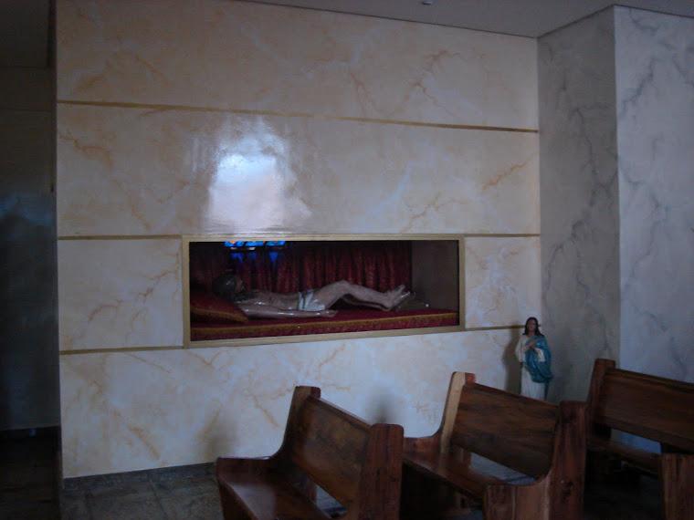 """Parede do """"CRISTO MORTO"""" -Santo André- Igreja São Judas Tadeu."""