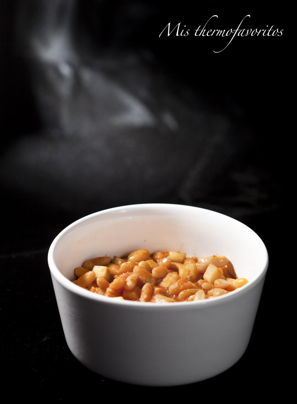 Guiso de jud as blancas con sepia utilizando thermomix cocina f cil y barata - Cocina facil y saludable thermomix ...