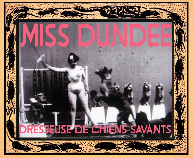 Miss DUNDEE et ses chiens savants-1902 Alice Guy