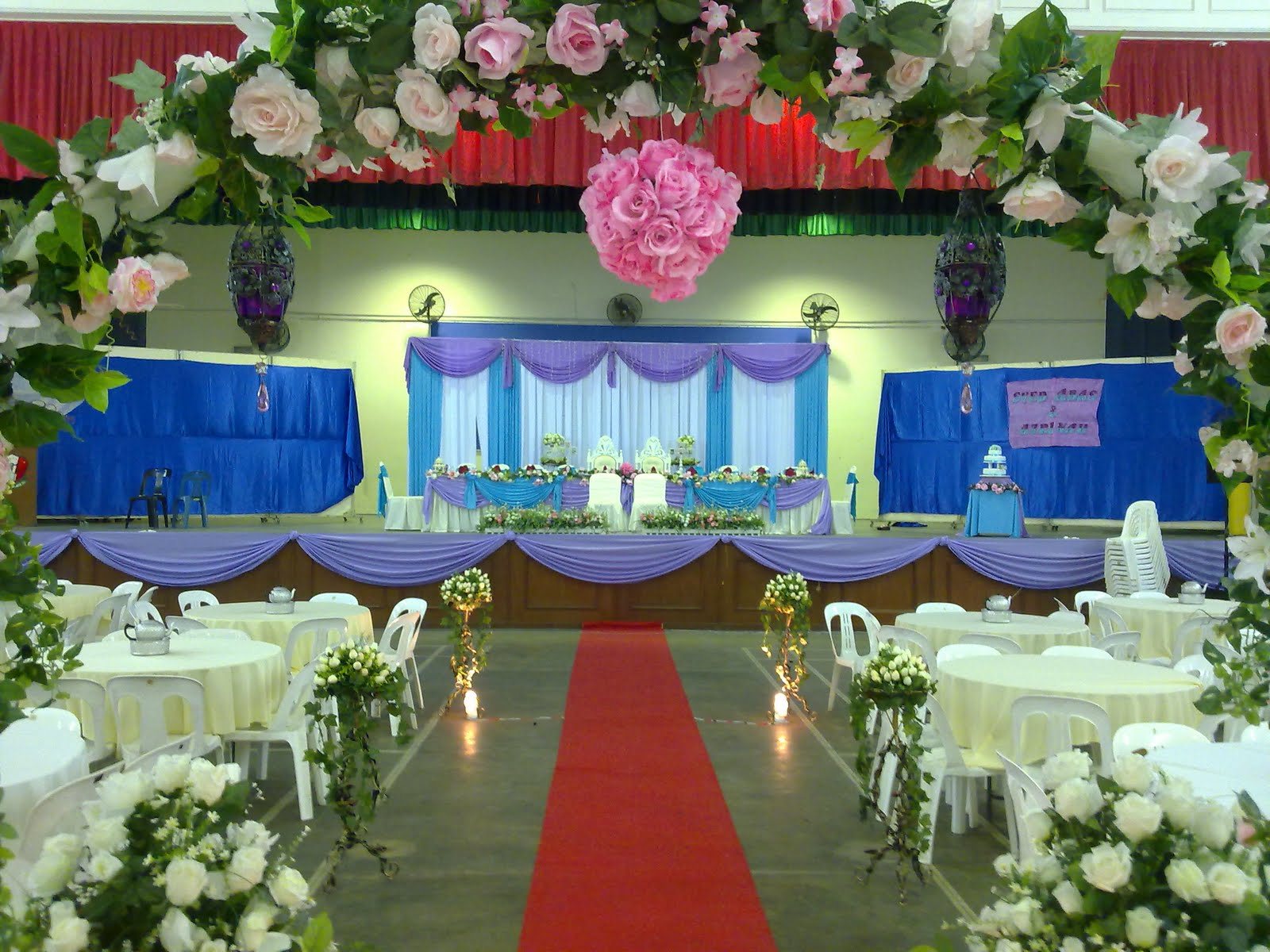Raags management services malay style wedding dinner for Wedding dinner decoration ideas