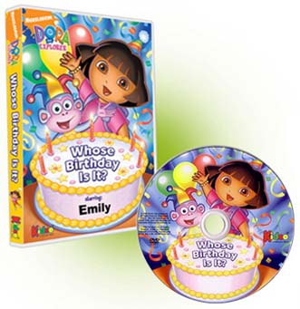 Dora Personalized Photo DVDs starring your child Personalized