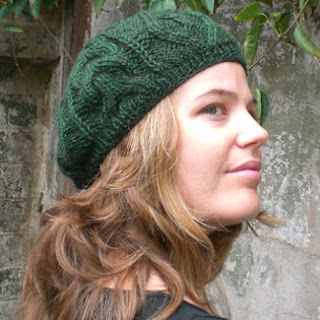 SPRUCE, beret with textured Aran stitches