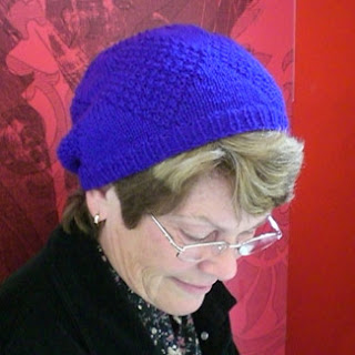Beanie in Gansey textured pattern
