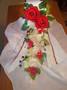 Ramo de flores de novia en cascada eterno. REF:MT/ 002.1