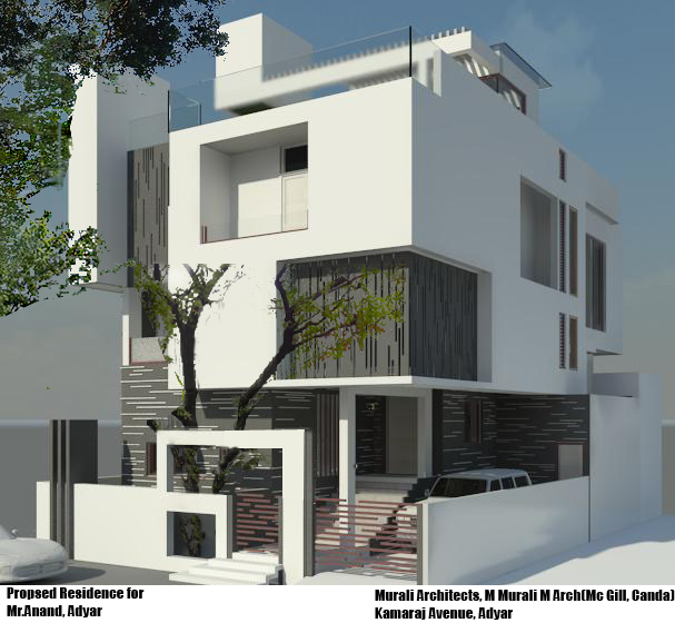murali architects proposed residence for mr anand and family at