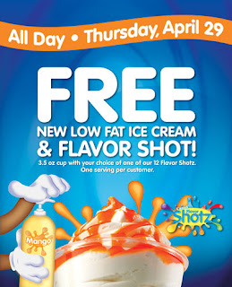 Free Carvel Ice Cream and Flavor Shot