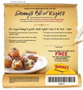 Dennys Free Pancake Puppies