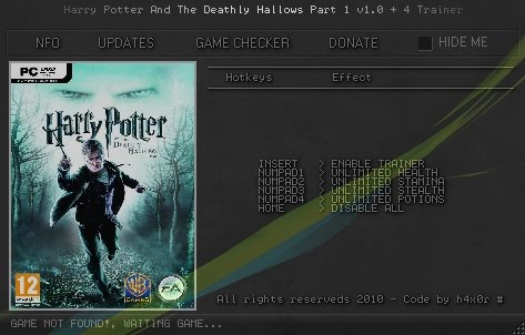 registration code for harry potter and the deathly hallows part 2 pc game