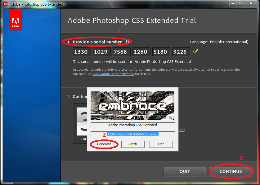 photoshop cs5  with crack keygen