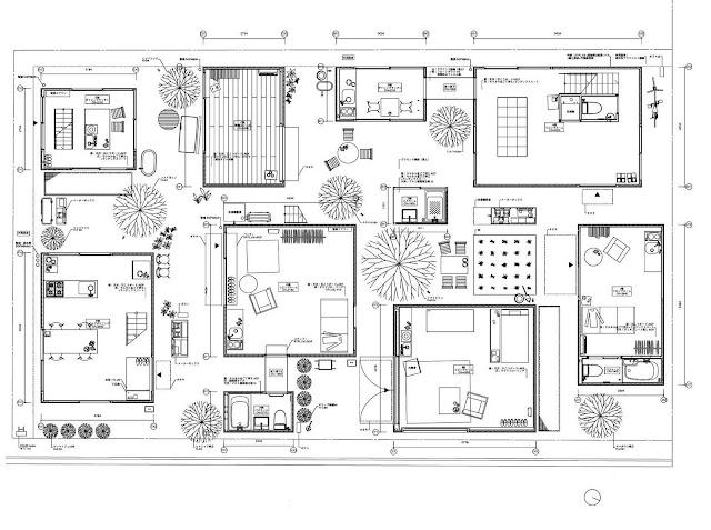 Amassing design moriyama house sanaa kazuyo sejima for House plans louisiana architects