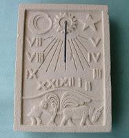 replicas de reloj solar realizadas con simil piedra