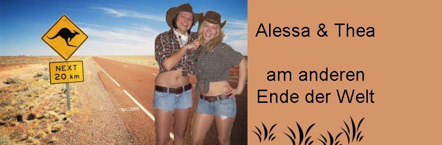 alessa und thea in australien: einladung abschiedsparty, Einladungen