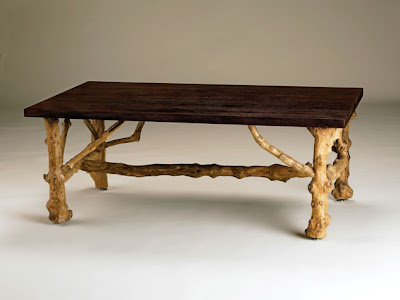 Coffee table from recycled
