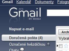 Gmail.com umožňuje změnit si motiv emailu dle vašich představ.