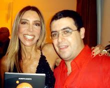 George Lisboa e Maura Roth no lançamento do livro de Alberto Luchetti