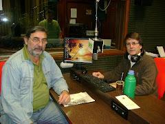 En la radio, con Eduardo Baumann