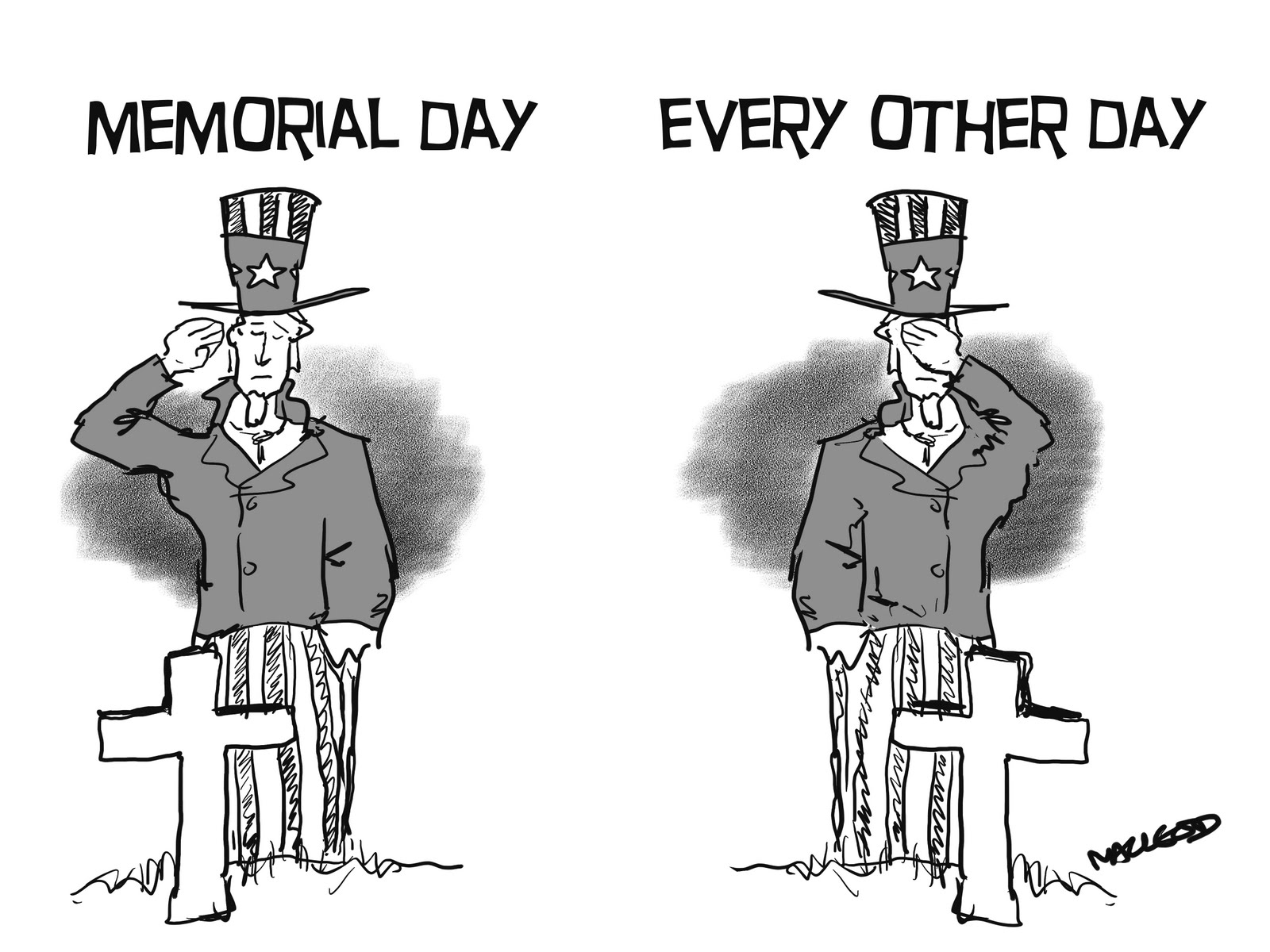 memorial day cartoons