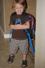 Gavins first day of school... 3 yrs. old.