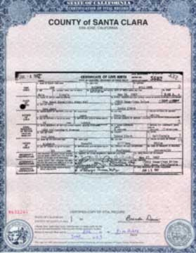 santa clara county birth certificate california get vital