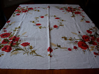 Vintage Tablecloth Poppies