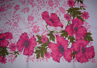 Vintage Tablecloth with Pink Flowers