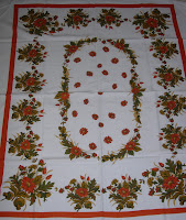 Fall Autumn Vintage Tablecloth