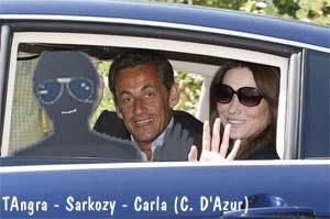 TAngra, Sarkozy e Carla Bruni