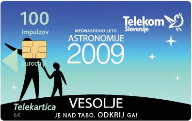 IYA 2009-themed phone cards of Slovenia
