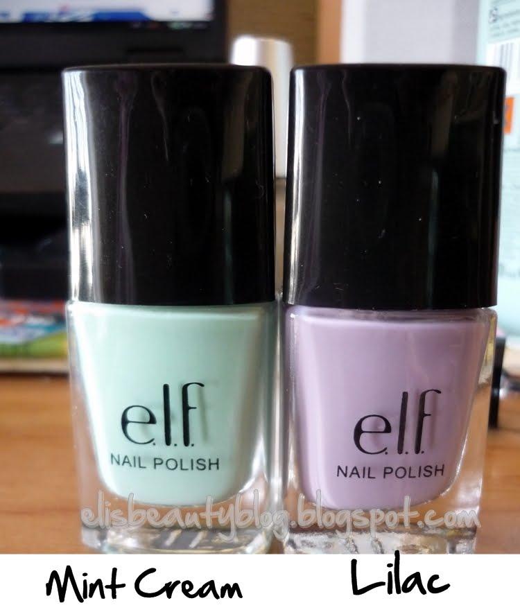 El beauty blog de Eli: Esmaltes e.l.f. Mint Cream y Lilac: decepción