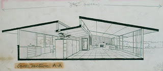 gregory ain - altadena - park planned homes - interior cross section