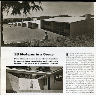 gregory ain - altadena - park planned homes - american builder article, 1948 - 1