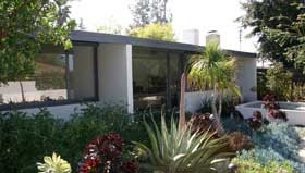 gregory ain - altadena - park planned homes - rear yard landscaping, circa 2009